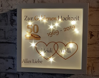 Schieferherz Goldene Hochzeit Mit Personalisierung Etsy