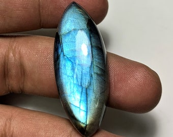 Natural Rare Labradorite Blue Fire Gemstone 18mm-40mm Fancy Cabochon Lot Labradorite Semi Precious Gemstone Smooth Cabs for Wire Wrapping