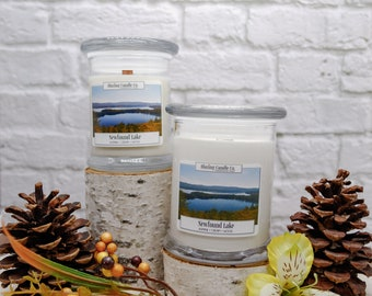 Newfound Lake Soy Candle | All Natural Soy Candle | Natural Candle | Hand-poured Soy Candle | Wooden Wick Candles