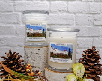 Mount Washington Hotel Soy Candle | All Natural Soy Candle | Soy Candle | Hand-poured Soy Candle | Wooden Wick Candles