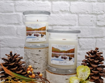 Mirror Lake Soy Candle | All Natural Soy Candle | Soy Candle | Hand-poured Soy Candle | Wooden Wick Candles