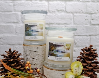 Beede Falls Soy Candle | All Natural Soy Candle | Soy Candle | Hand-poured Soy Candle | Wooden Wick Candles
