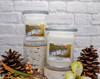 Profile Falls Soy Candle | Natural Soy Candle | Handpoured Soy Candle | Wooden Wick Candles