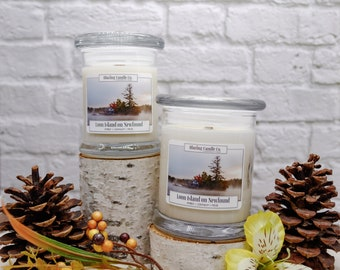 Loon Island on Newfound Soy Candle | All Natural Soy Candle | Soy Candle | Hand-poured Soy Candle | Wooden Wick Candles