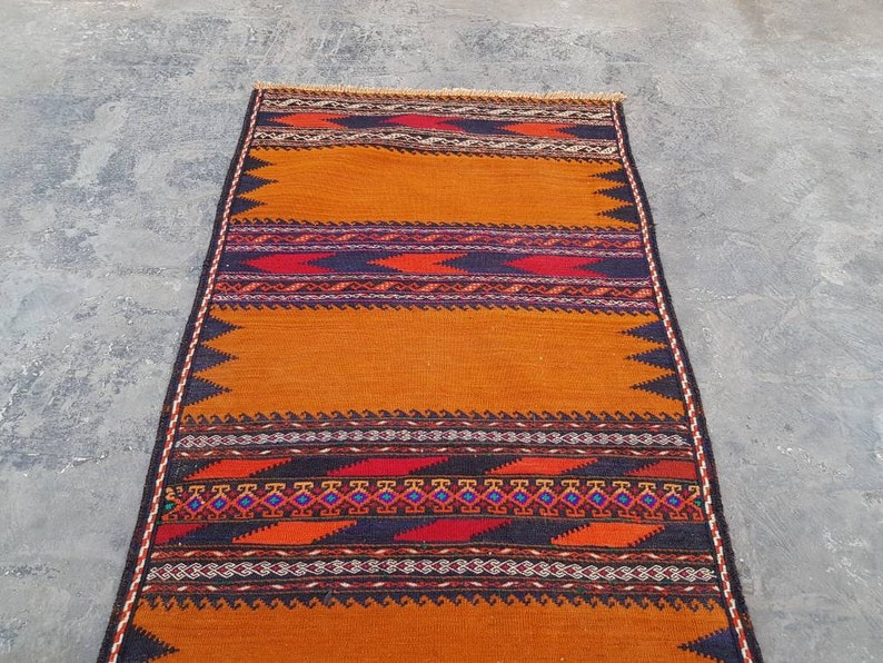 5x2 feet Handmade Afghan kilim nice quality wool kilim flat weavetapestry runner