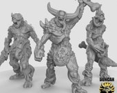 Plague Demons with Swords Resin Models for Dungeons Dragons Board RPGs