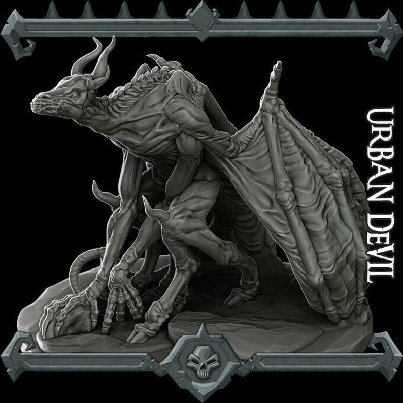 Urban Devil  Resin Miniature  Many Size Options dungeons image 0