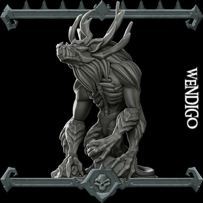 Wendigo  Resin Miniature   28mm / 32mm Scale  Dungeons And image 0