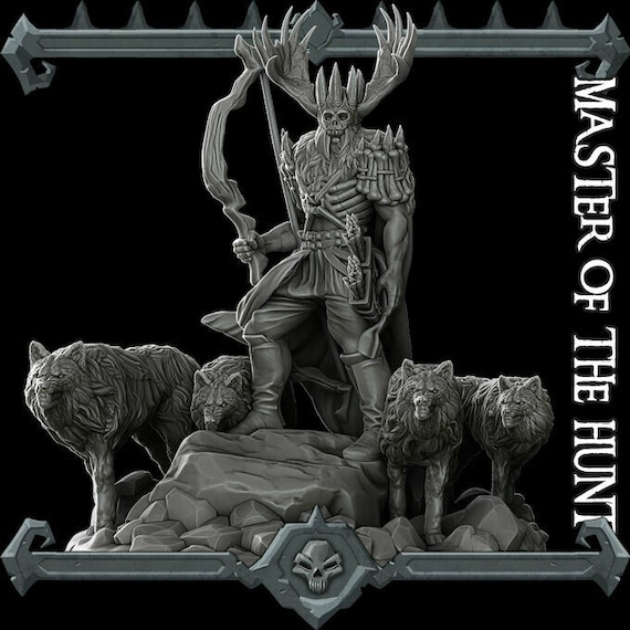 Master Of The Hunt Resin Miniature 32mm Scale Etsy