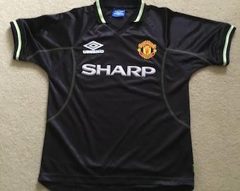 3909308a85c Vintage Manchester United third away shirt season 98/99 men's medium