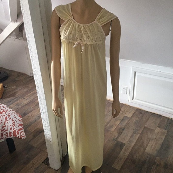Movie Star Nightgown Small Vintage, Yellow Summer