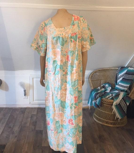 Vintage Sears Nightgown, Medium, 100% Cotton Night