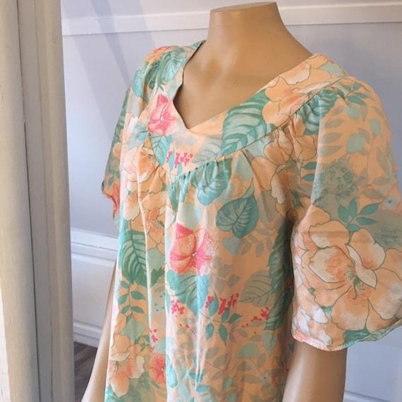 Vintage Sears Nightgown, Medium, 100% Cotton Nigh… - image 2