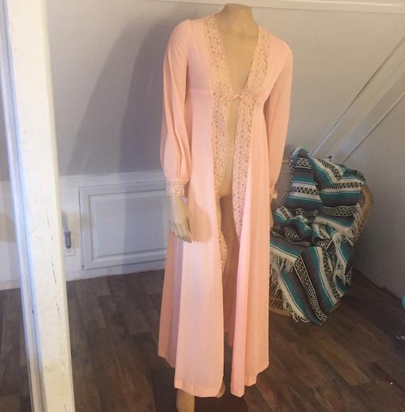 Vintage Lingerie Duster Robe, XS/S Sexy Robe, Loun