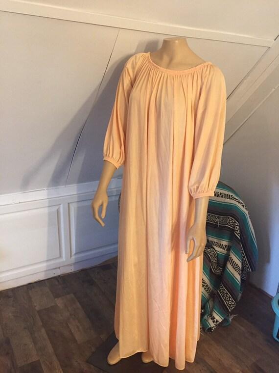 Vintage Nightgown, Plus Size, Pale Orange, Women's