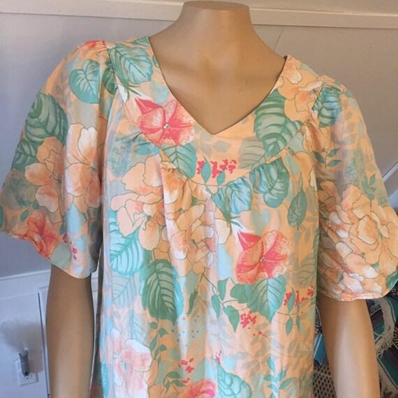 Vintage Sears Nightgown, Medium, 100% Cotton Nigh… - image 7