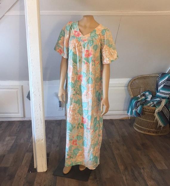 Vintage Sears Nightgown, Medium, 100% Cotton Nigh… - image 3