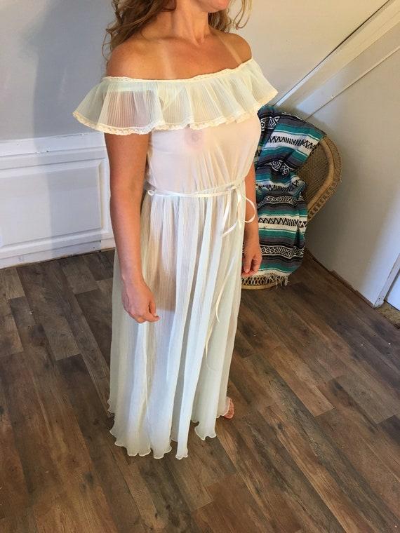 Vintage Nan Flower Original Nightgown, Size 34, Pl