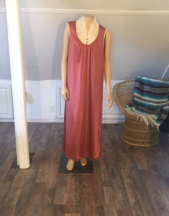 Vintage Nightgown Small, Unique Colored Nightgown,