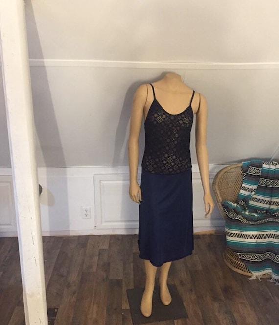 Vintage Vanity Fair Nightgown Medium, Blue Nightgo