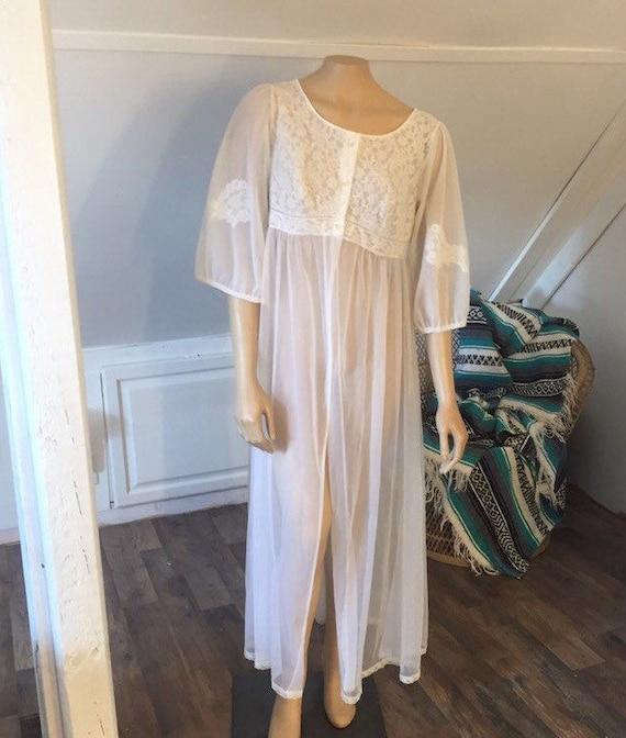 Vintage Miss Elaine Duster Robe, Vintage Lingerie,