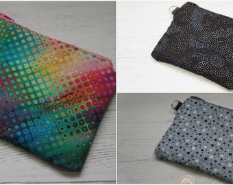 Coin Purses Single Section Card Holder Purse Fabric Zip Top Lined Strong Colourful Spots Swirls Funky Disco Bright Wallet Coin Holder