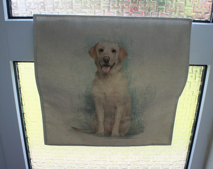 Letter Catcher Labrador print fabric. Slimline. East to install. Mail Catcher. Letterbox Bag. Post Catcher. Fabric letter catcher.