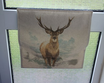 Letter Catcher Stag print fabric. Slimline. East to install. Mail Catcher. Letterbox Bag. Post Catcher. Fabric letter catcher.