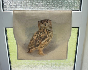 Owl Printed Residential Letter Box Post Catcher. An Easy Fit Slim Flat Mail Catcher That Covers Your Flap Inside. No tools required.