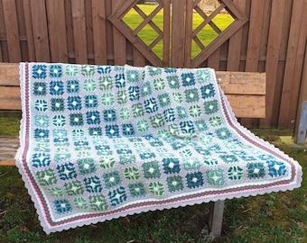 Crochet Pattern, Vibrant Butterfly blanket, ByMimzan