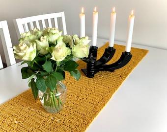 Crochet table runner pattern, Fiery Dragonflies, ByMimzan