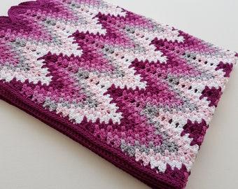 Crochet Pattern, Heartbeat Ripple, ByMimzan