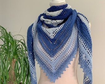 Crochet Shawl pattern In and Out shawl