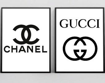 c11b51ec82 Coco Chanel Print, Gucci Print, Gucci Wall Art, Gucci Poster, Gucci  Inspired, Coco Chanel Artwork, Coco Chanel Sign, Digital Illustration
