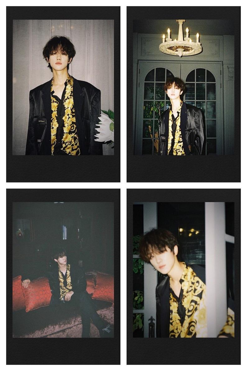 Minghao /& Wonwoo Black Themed Polaroids