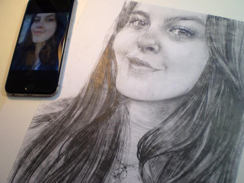 Individual portrait Personalized portrait Realistic portrait Portrait by photo Individual drawing Drawing by photo Drawing graphite pencil
