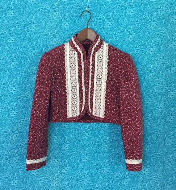 70s Quilted Bolero Jacket XXS
