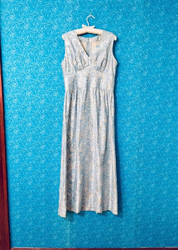 60's Metallic Paisley Dream Dress