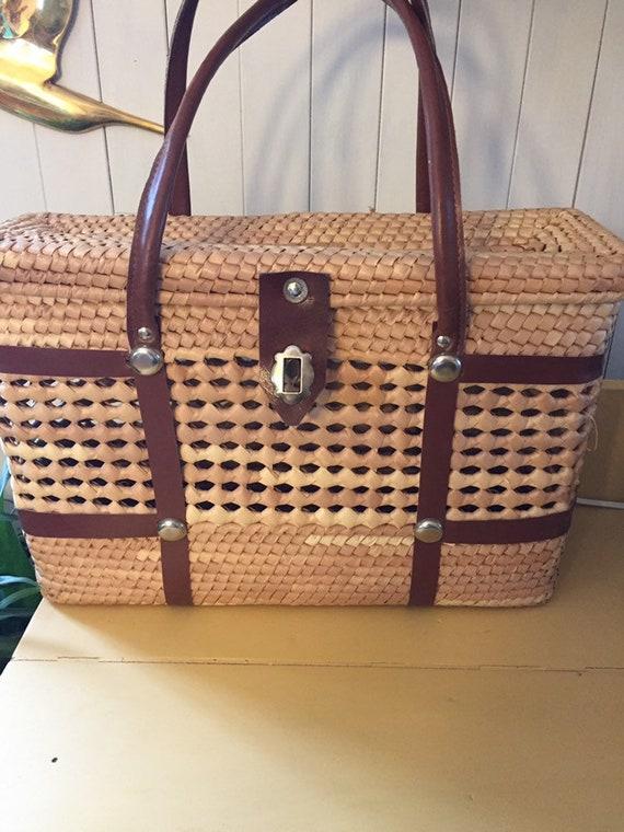 Wicker basketball bag
