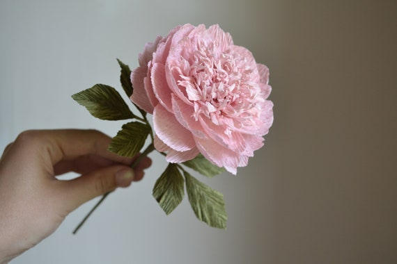 Paper Flowers bouquet for Mother/'s Day or special events Peonies bouquet italian crepe paper