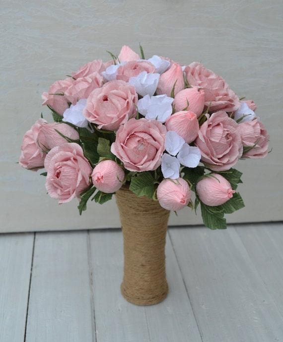 Pink Paper Roses Paper Flowers Table D\u00e9cor Party Decoration Scrapbook Embellishments Bridal Wedding Bouquet