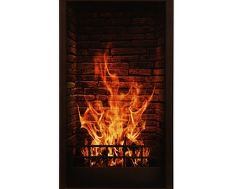 Enjoyable Electric Fireplace Etsy Interior Design Ideas Tzicisoteloinfo