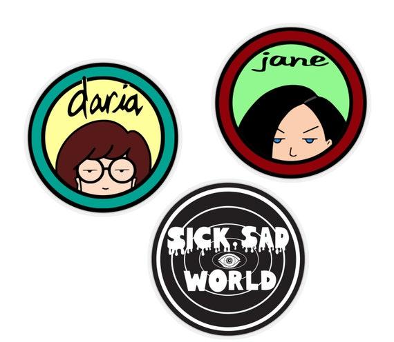 Daria and Jane Sticker set