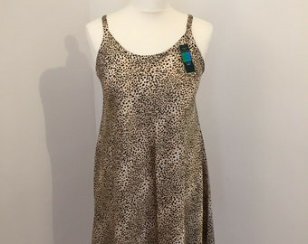 cd07743fa89 St Michael Marks and Spencer BNWT Vintage Nightdress 12-14 Short 1990s  Leopard Cheetah Print