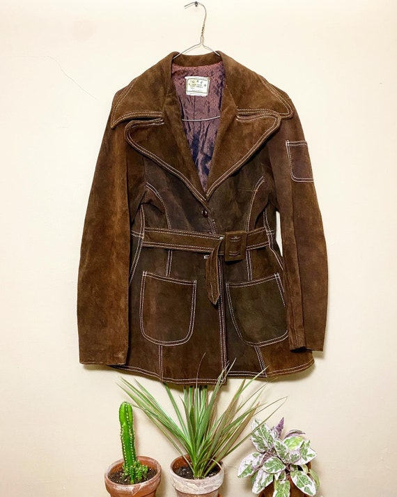1960's Brown Suede Jacket Made in Mexico