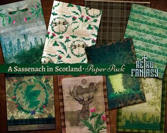 The Highlander PRINTED junk journal kit ephemera scrapbooking pages collage Scotland
