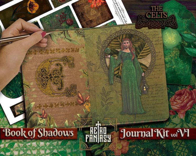 Book of Shadows Junk Journal Kit vol VI The Celts Printable \u2022 TEMPLATE for spells for FREE \u2022 Magic \u2022 Wicca \u2022 Grimoire \u2022 Book of spells \u2022