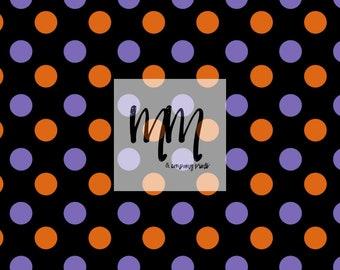 orange purple polka dot halloween printed vinyl sheets   6x6 and 12x12 heat transfer vinyl sheets   outdoor vinyl   decal vinyl for cutters