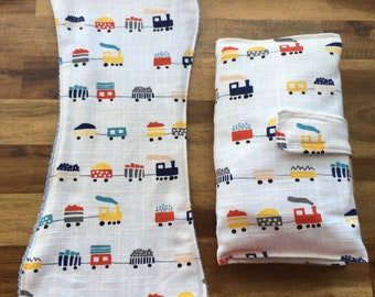 Baby Nappy Wallet and Burp Cloths