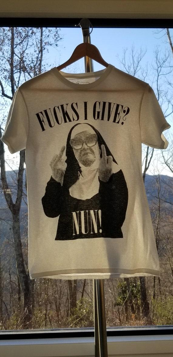 Funny Flippant Nun Graphic T Shirt